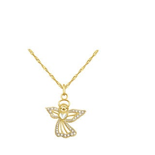 10k Yellow Gold Angel Charm Pendant