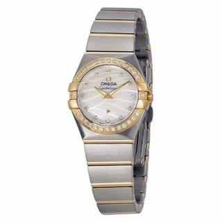 Omega Women's 12325246055011 Constellation White MOP Watch