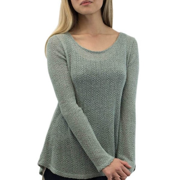 Relished Mint Chiffon Vented Sweatshirt