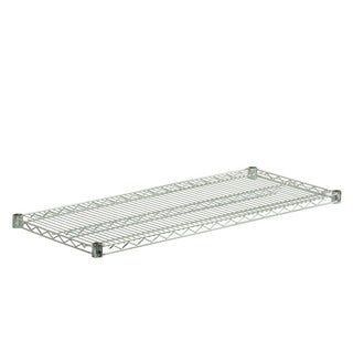 steel shelf-800lbs chrome 18x42