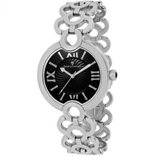 Christian Van Sant Women's CV2811 Twirl Round Silvertone Stainless Steel Bracelet Watch