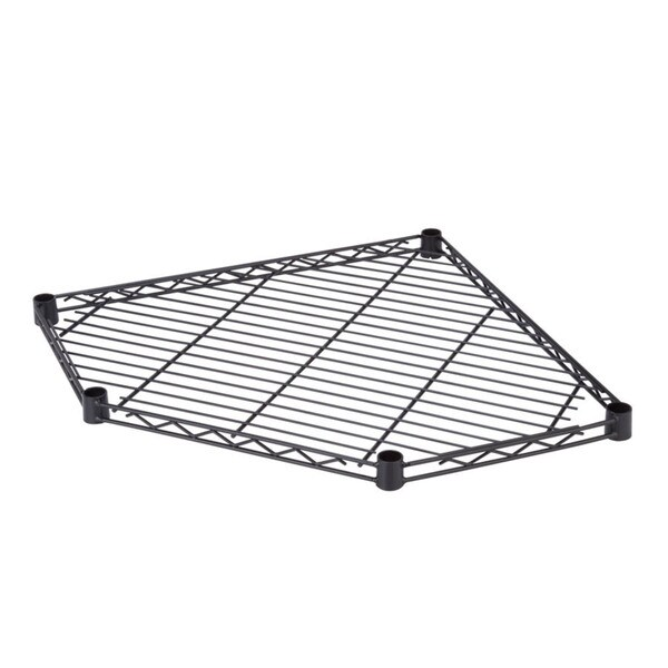 Corner Shelf 5-side 350lb Black