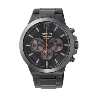 Seiko Men's SSC323 Solar Chronograph 100M Water Resistant Watch with a 6 Month Power Reserve