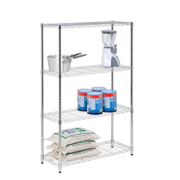 4-tier chrome shelving unit - 250 lbs