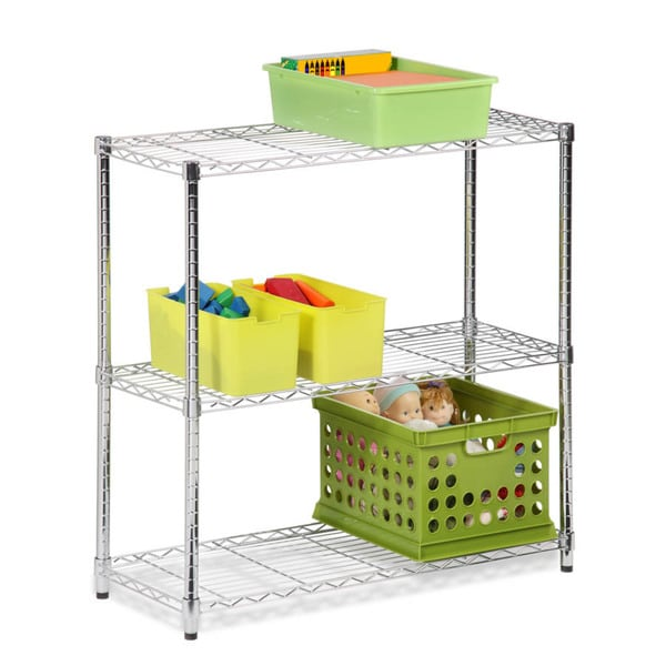3-tier chrome storage shelves