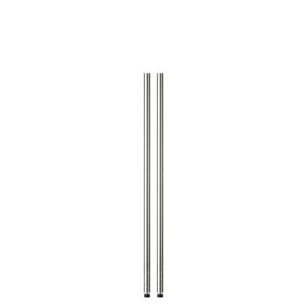 48in chrome pole with leg levelers - 2-pack
