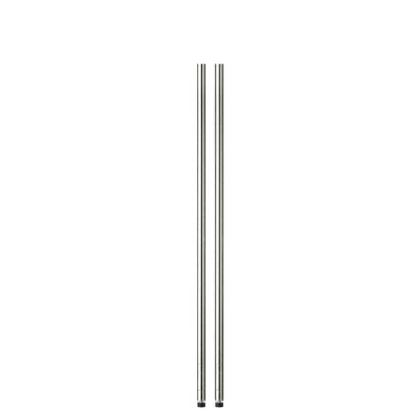 54in chrome pole with leg levelers - 2-pack