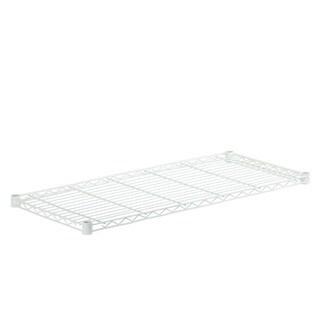 steel shelf-350 lbs white 18x42