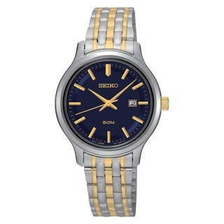 Seiko Women's SUR781 Stainless Steel Two Tone Date Watch
