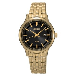 Seiko Women's SUR778 Stainless Steel Gold Tone Date Watch