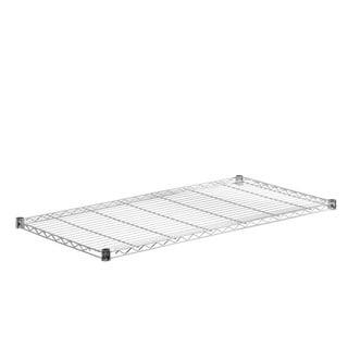 steel shelf-350 lbs chrome 18x48