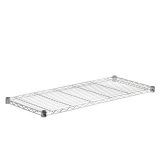 steel shelf-350 lbs chrome 18x42