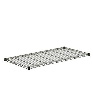 steel shelf-350 lbs black 18x48