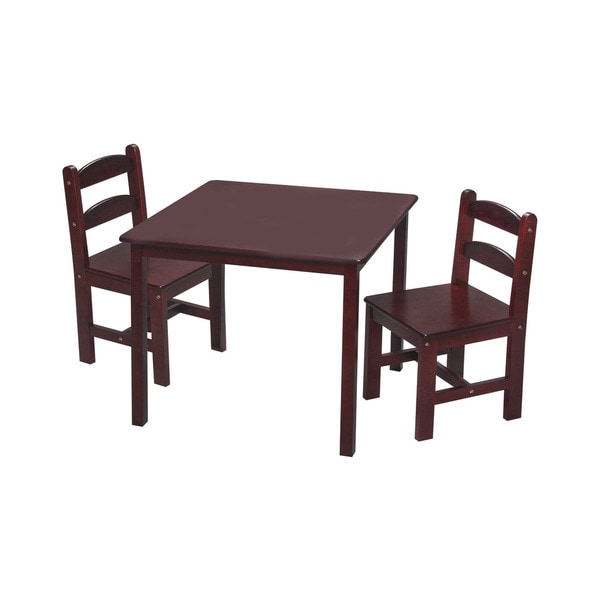 Gift Mark Kids Children Wooden Table With 2 Chairs