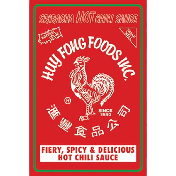 Sriracha 2016 Wall Calendar Food Cooking Hot Chili Sauce Spicy Flavors
