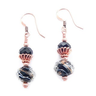Palmtree Gems 'Darcy' Copper and Glass Dangle Earrings