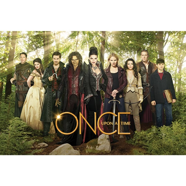 Once Upon a Time Cast Green Poster TV Show Woods Fantasy ABC Stories Fiction
