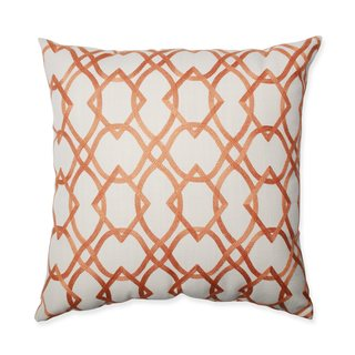 Pillow Perfect Forget Me Knots Tangerine Throw Pillow