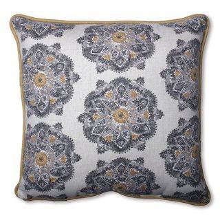 Pillow Perfect Suri Medallion Greystone Throw Pillow