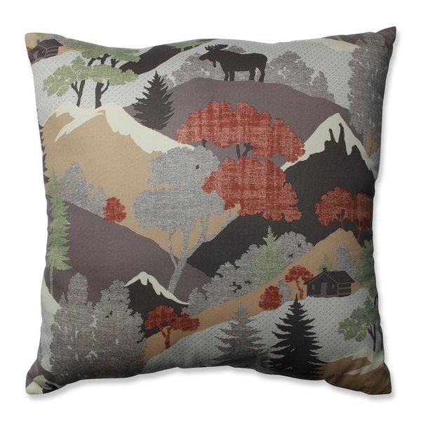 Pillow Perfect Happy Camper Heather Throw Pillow