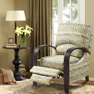 Madison Park Brydon Bent Arm Recliner--Blue