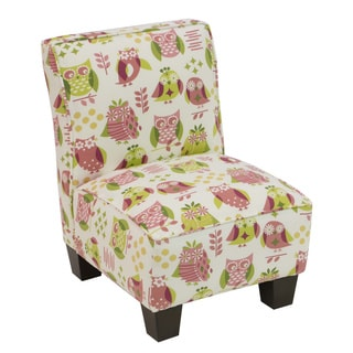 Skyline Furniture Kids Slipper Chair in It's A Hoot Petal