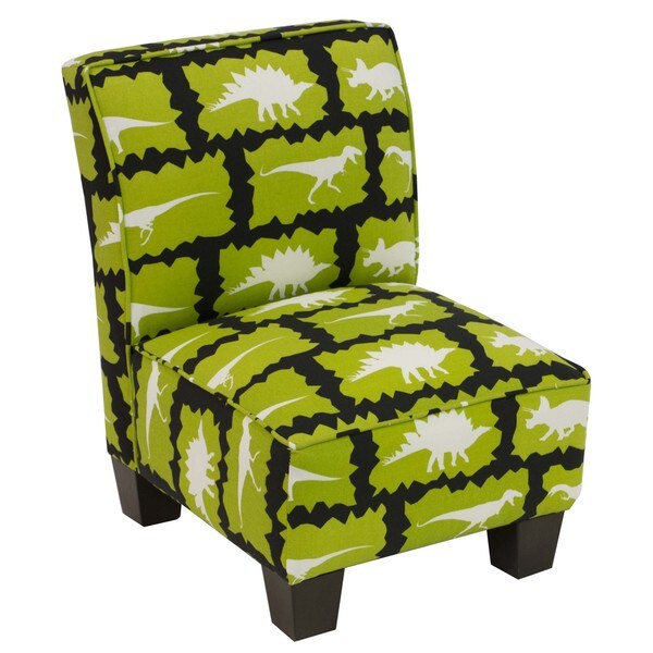 Skyline Furniture Kids Slipper Chair in Rex Chartreuse