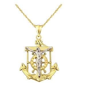 10k Yellow Gold Mariners Cross Pendant