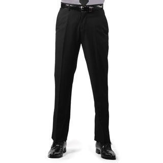 Ferrecci Men's Premium Black Regular Fit Pants