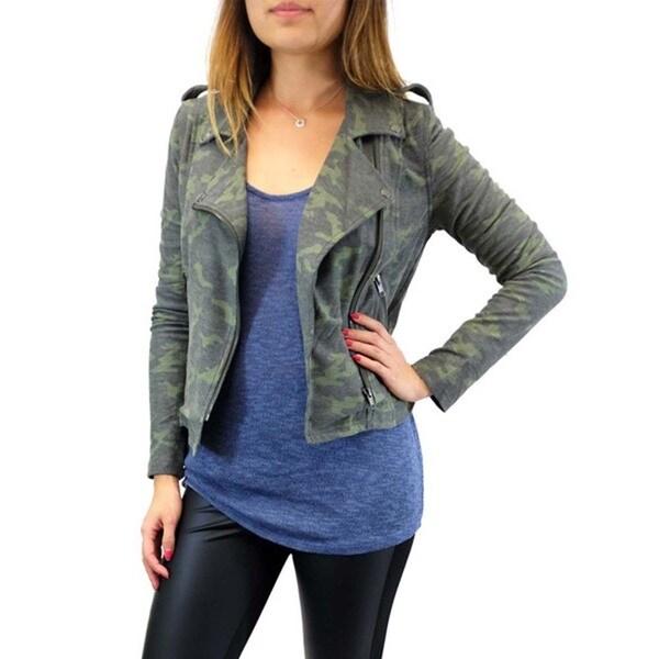 Women's Vintage Camo Moto Jacket