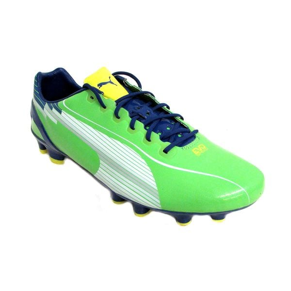 Puma Men's EvoSpeed Green/ White/ Blue/ Yellow Soccer Cleats