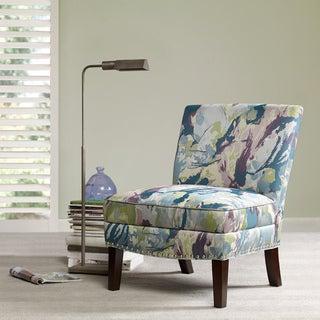 Madison Park Alex Curved Back Slipper Chair--Blue