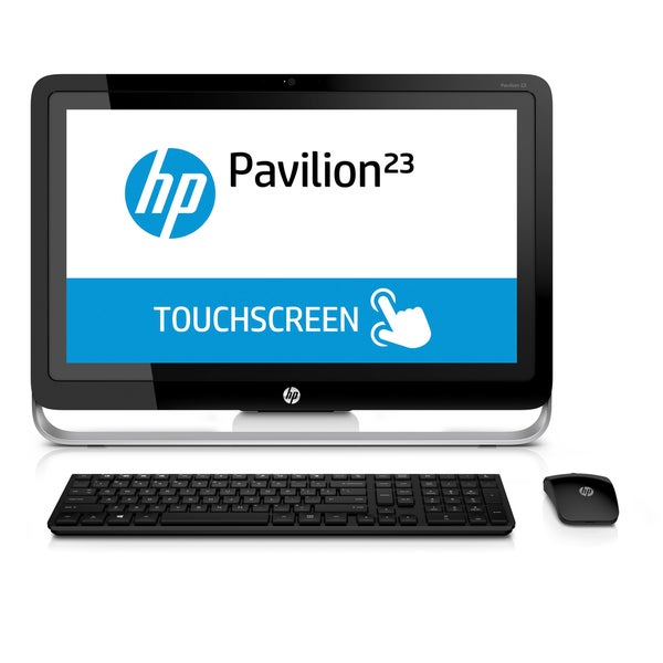 HP Pavilion 23-p129 AMD A10, 23-Inch Full HD Touchscreen All-in-One Desktop (Refurbished)