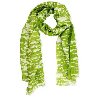 Saachi Women's Green Abstract Print Scarf (India)