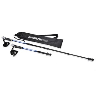 SportsPro Travel - Compact travel size hiking trekking walking pole