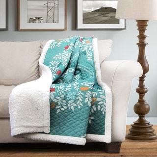Lush Decor Newbold Sherpa Throw Blanket