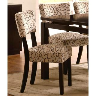 Pilgrim Modern Design Cappuccino Dining Chairs (Set of 2)