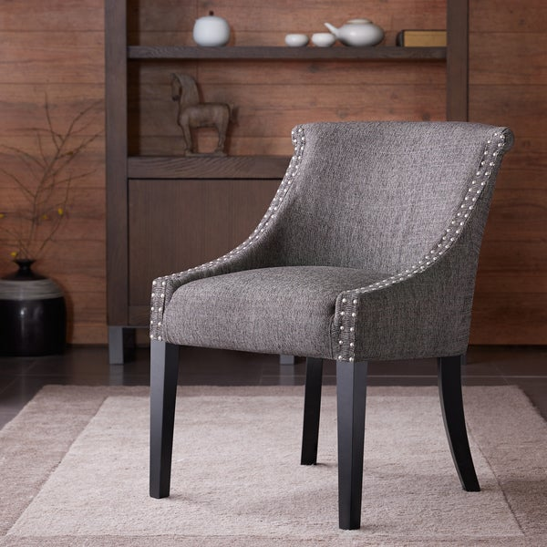 Madison Park Heidi Rounded Roll Back chair--Grey