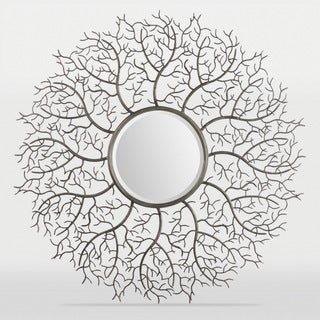 Tree of Life Framed Round Beveled Mirror