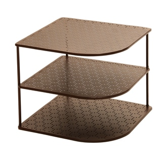 Seville Classics 3-Tier Perforated Corner Shelf Organizer