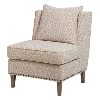Madison Park Camron Armless Shelter Chair--Beige