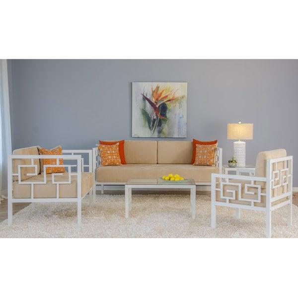 Greek Key Daybed Room Set (White, 33)
