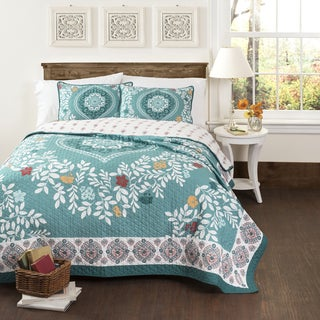 Lush Decor Newbold 3-Piece Cotton Quilt Set