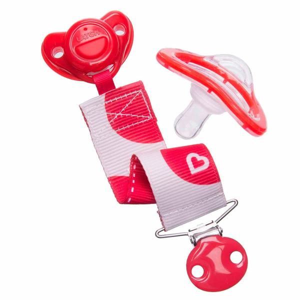 Munchkin Latch Lightweight Heartbeat Pacifier with Clip