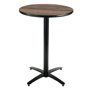 36-inch Round Bar Height Pedestal Table - Arched X-Base