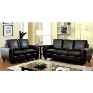 Furniture of America Tawnee Modern Leatherette 2-piece Sofa Set