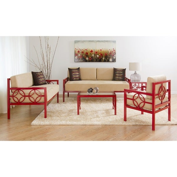 Medallion Daybed Room Set (Red, Twin)