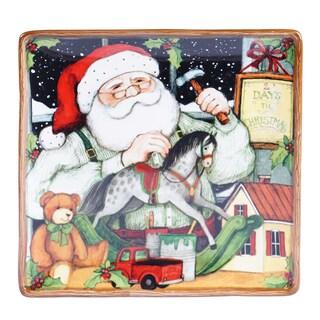 Certified International - Santa's Workshop Square Platter 12.5-inch