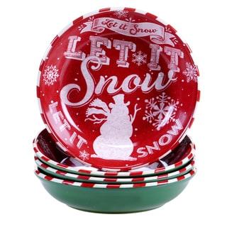"Certified International - Chalkboard Christmas Soup/Pasta Bowl, 9.25"" x 2"" (Set of 4)"