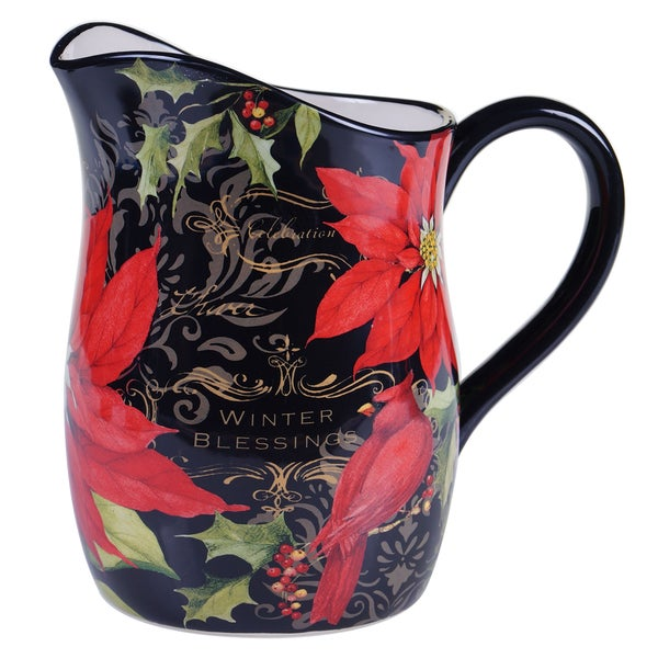 Certified International - Botancial Christmas Pitcher 3 quart